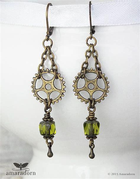 steampunk earrings ideas  pinterest steampunk