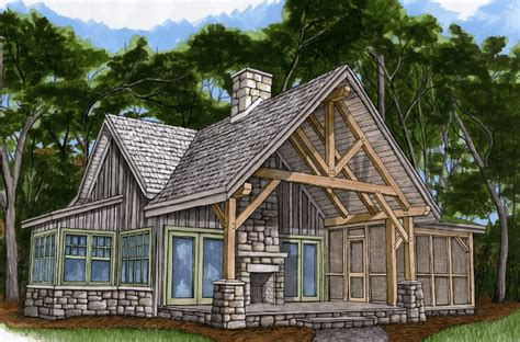 cottage plans timber frame hq