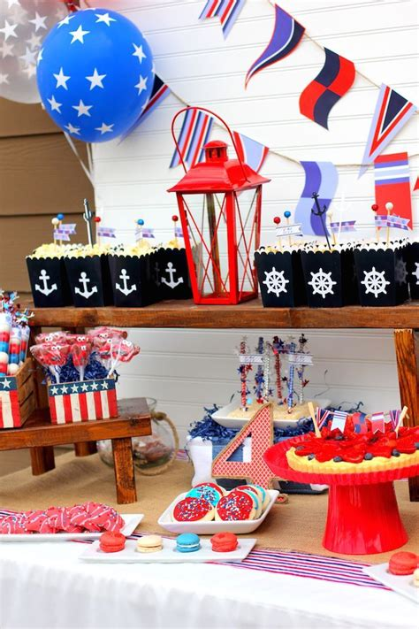 4th of july themed nautical themed 4th of july party ideas decor birthday planning