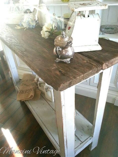 mancini vintage farmhouse console table reclaimed barnwood