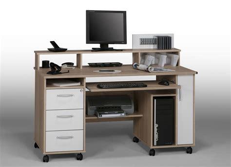 bureau pour ordinateur et imprimante achat bureau informatique lepolyglotte