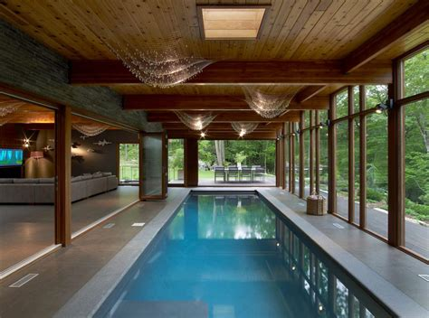 Indoor Pool : Hudson Valley Country House By Fractal Construction
