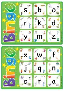 alphabet vocabulary bingo lowercase letters a z 104 | alphabet and vocabulary bingo game lowercase a z 212x300