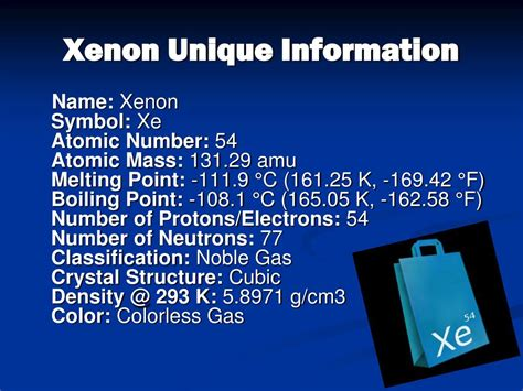xenon mass atomic number xe ppt powerpoint presentation point