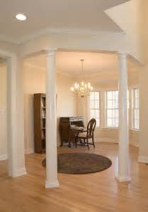 interior home columns luxury living room decors with tapered plain