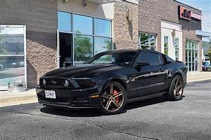 Ford Mustang S197 Black with Gloss Bronze Verde V09 Spry Aftermarket Wheels   Wheel Front