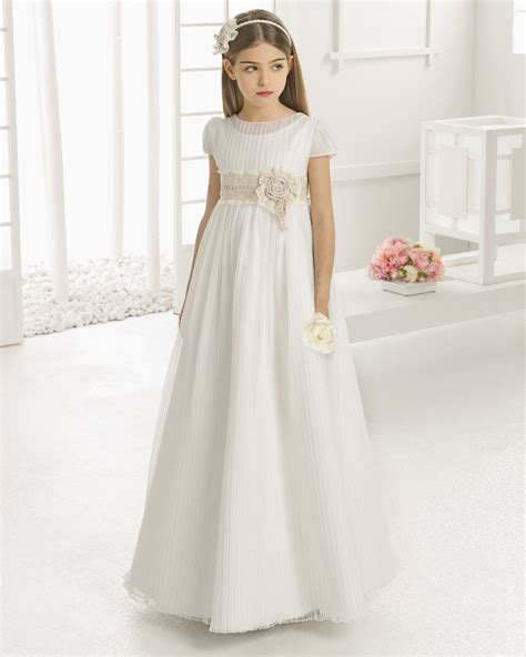 2016 first communion dresses for girls Chiffon Lace Floor Length Flower Girl Dresses for ...