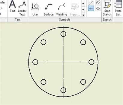 Pattern Circle Bolt Inventor Centered Autodesk