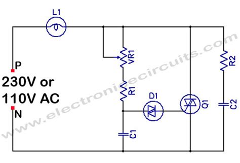 Filament Light Dimmer Circuit Electronic Circuits