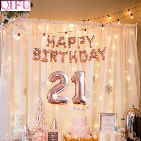 21st birthday decorations qifu 32 inch 21 happy birthday balloons gold 21st
