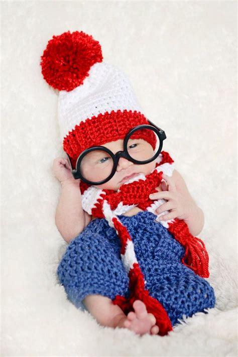 crochet wheres waldo costume newborn photography prop