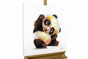 Acrylbilder Für Schlafzimmer : acryl gem lde 39 panda modern bunt 39 handgemalt leinwand ~ Sanjose-hotels-ca.com Haus und Dekorationen