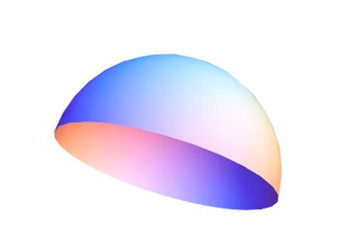 graphics3d how do i draw a hemisphere mathematica