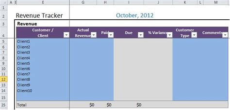 budget template  small businesses pw