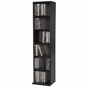 meuble range cd dvd 5 etageres de rangement ajustables With meuble pour ranger les dvd