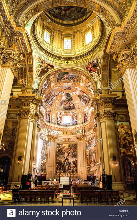 Artwork Images Free by Sant Andrea Della Valle Church In Rome Stock Photo