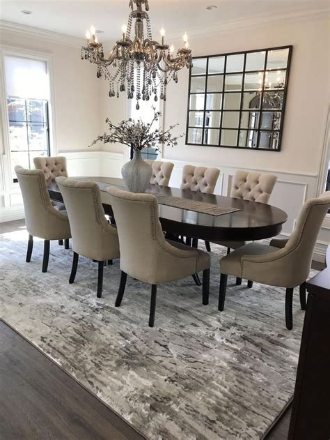 See Stunning Dining Room by Our Beautiful Ripplewater Bound Carpet In Color Ecru