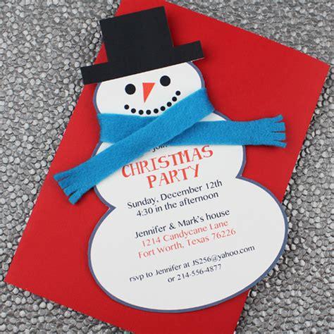 snowman christmas party invitation template  print