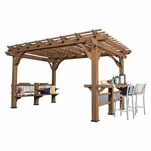 14 ft x 10 ft Backyard Discovery Oasis Wood Cedar