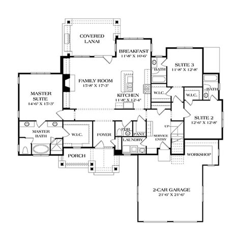 craftsman floor plans craftsman style house plan 3 beds 3 5 baths 2184 sq ft