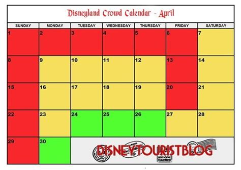 disneyland crowd calendar visit disney tourist blog