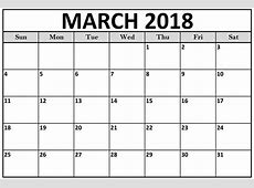 Calendar March 2018 HD Calendar And Images
