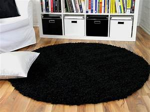 Hochflor Teppich Rund : hochflor langflor shaggy teppich aloha schwarz rund teppiche hochflor langflor teppiche schwarz ~ Indierocktalk.com Haus und Dekorationen