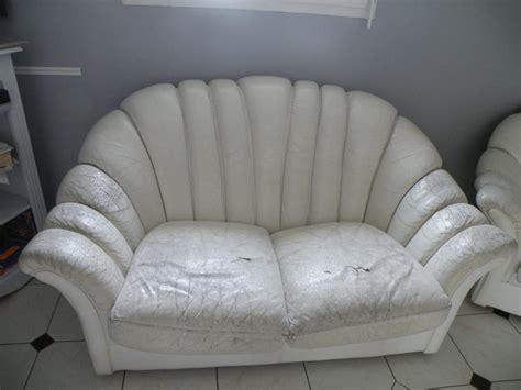refection canape cuir troc echange canape coquille cuir blanc sur troc com