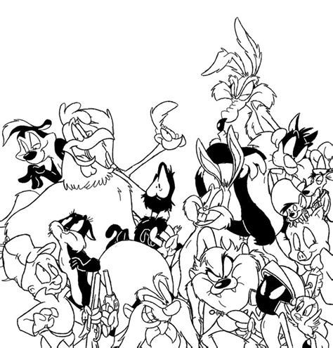 looney tunes coloring pages looney tunes lineart by winter freak on deviantart