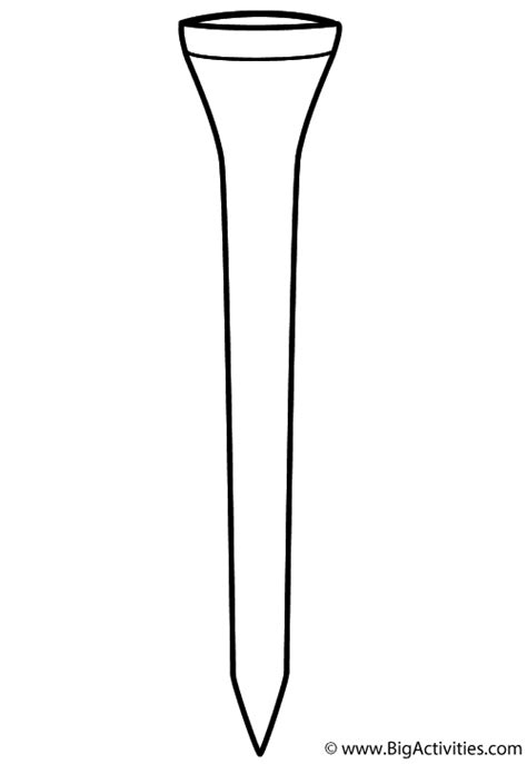 golf tee coloring page fathers day