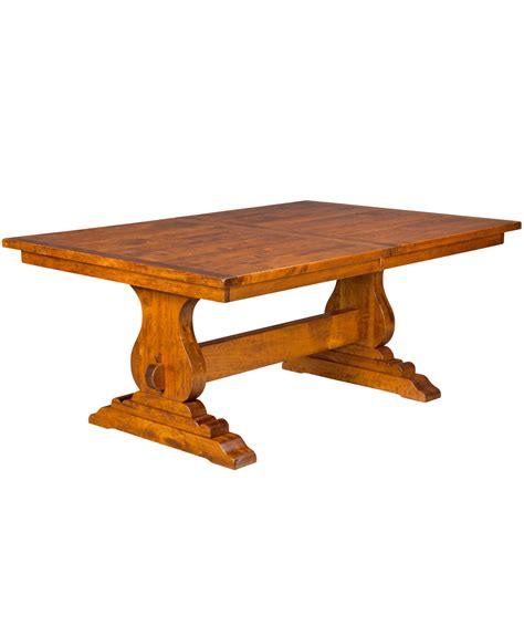 trestle dining table amish direct furniture