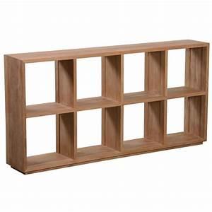 Meuble Tv Hauteur 90 Cm : etag re horizontale en teck pekalongan 180 cm achat vente meuble tag re etag re horizontale ~ Farleysfitness.com Idées de Décoration