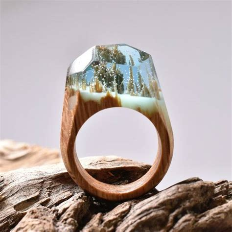 Handcrafted Wood & Resin Rings Hide Magical Miniature. Golding Engagement Rings. Lisa Leonard Engagement Rings. Nail Polish Engagement Rings. Gold 22k Wedding Rings. Law Enforcement Engagement Rings. Petoskey Stone Wedding Rings. Exotic Wedding Rings. Heart Gallery Engagement Rings