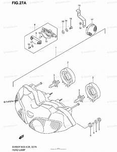 Suzuki Motorcycle 2000 Oem Parts Diagram For Headlamp