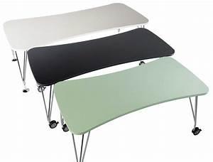 Table Max Bureau Roulettes L 160 Cm Blanc Kartell