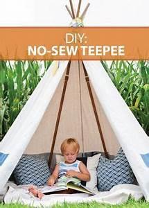 Zelt Kinderzimmer Nähen : diy no sew teepee sewing pinterest kinderzimmer garten und n hen ~ Markanthonyermac.com Haus und Dekorationen