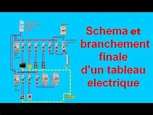Schema Tableau Electrique Triphasé : sch ma branchement c blage tableau electrique maison youtube ~ Voncanada.com Idées de Décoration