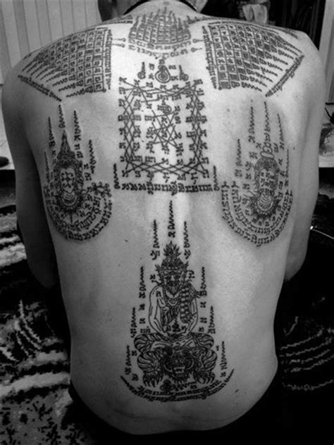 169 best images about Sak Yant on Pinterest | Temple tattoo, Magic tattoo and Buddhist tattoos