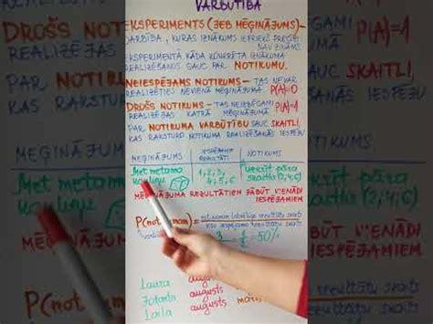 7. Klase .Ievads varbūtību teorijā. - YouTube