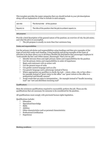 47 Job Description Templates & Examples  Template Lab