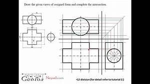 Engineering Drawing Tutorials  Intersection Of Solids With