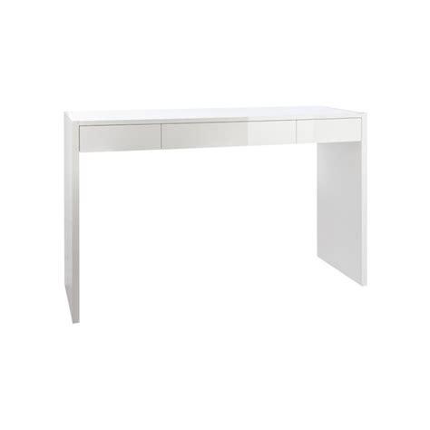 console bureau bureau console laqué blanc moncontainer com