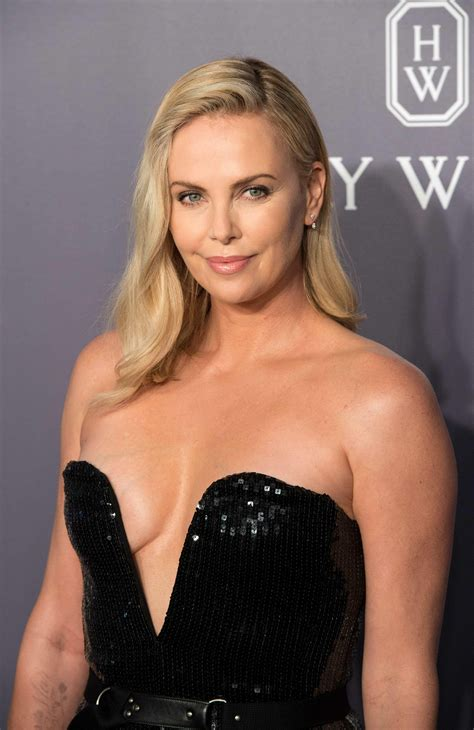 Charlize Theron Best Charlize Theron Rocking A Black Dress With No Bra The