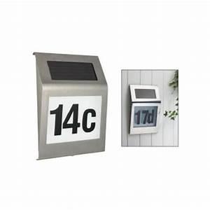 Numéro Maison Design : num ro de maison design en acier inoxydable avec led ~ Premium-room.com Idées de Décoration
