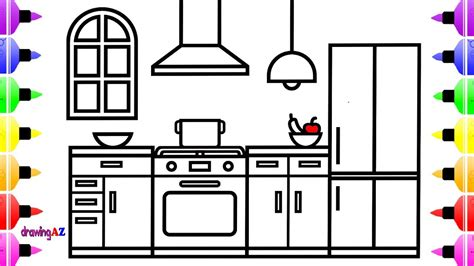 Kuche Zeichnung by How To Draw A Kitchen For Kitchen Drawing And
