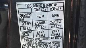 Toyota Hilux Tyre Pressure