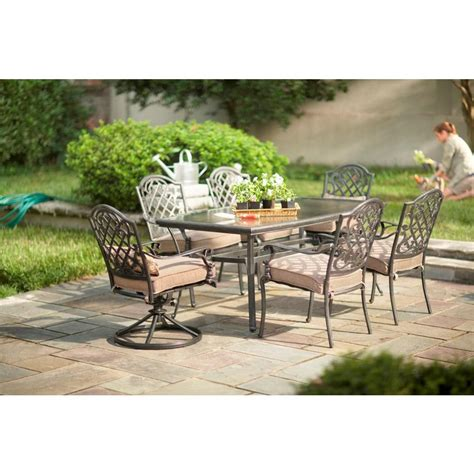 martha stewart living augusta 7 patio dining set