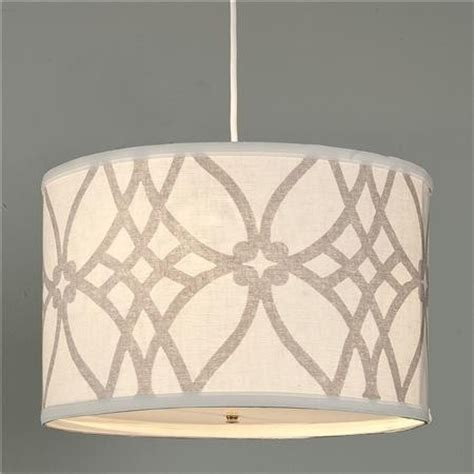 trellis linen drum shade pendant contemporary pendant
