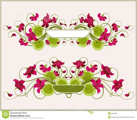 pretty picture frames floral frames royalty free stock images image 3274529 1649