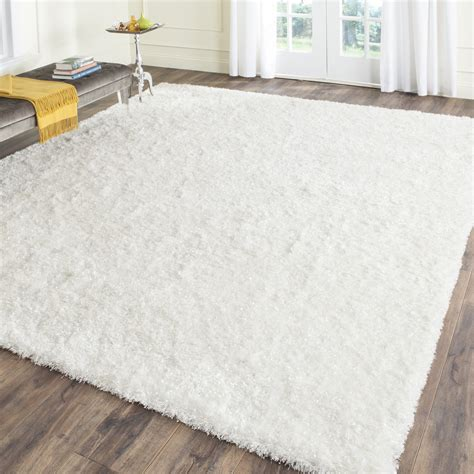 malibu white shag area rug wayfair